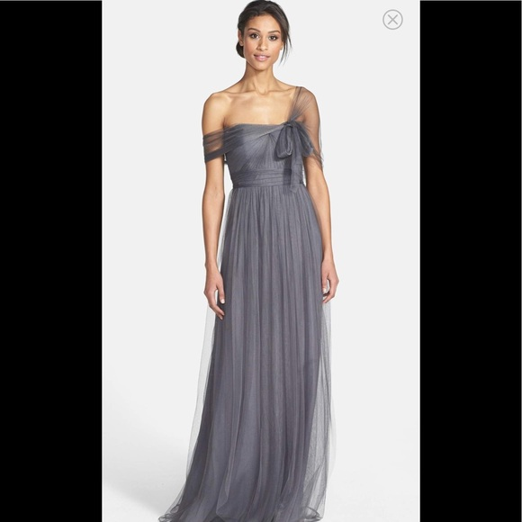 b59da9f512a Jenny Yoo Anabelle Convertible Shadow grey gown 10